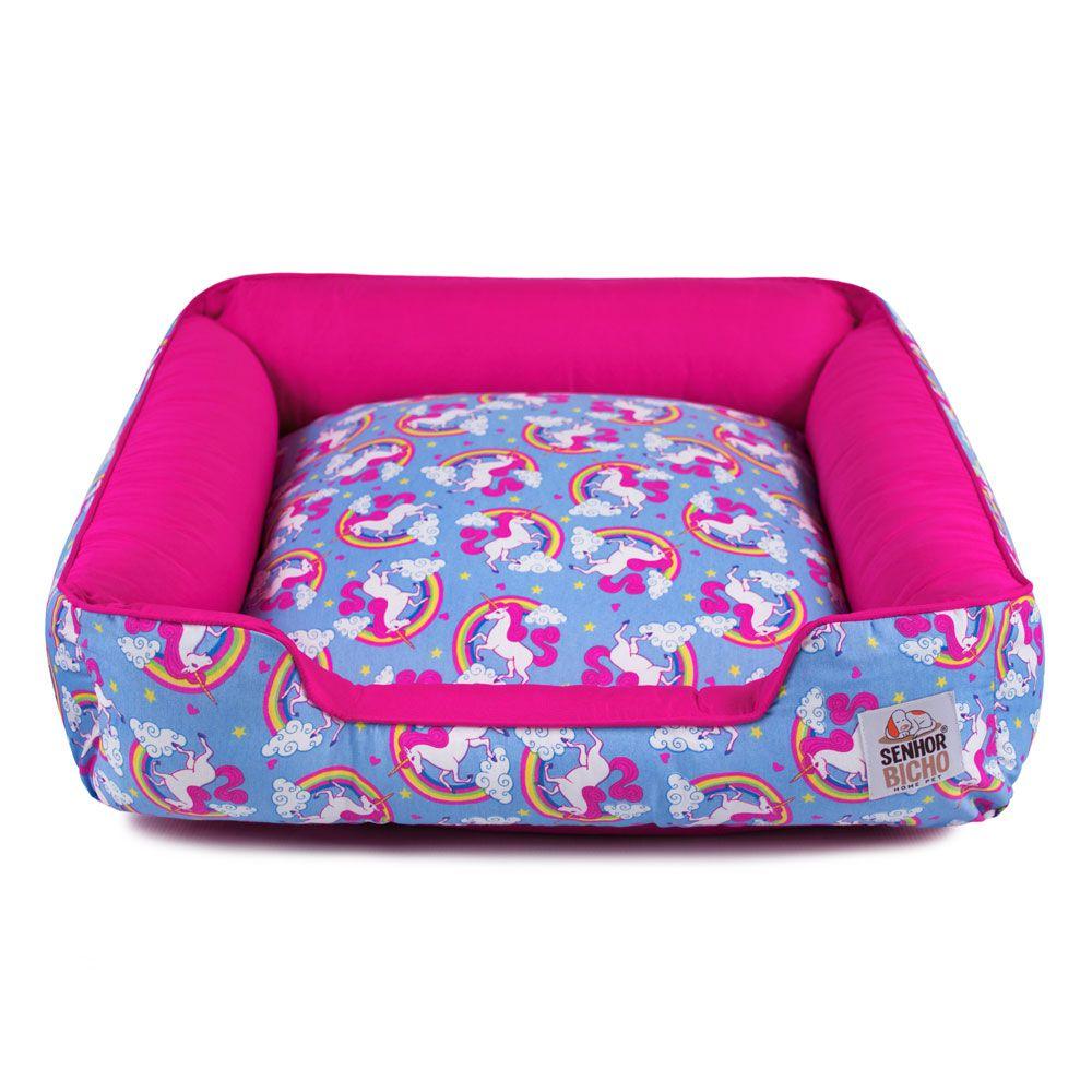 Cama de Cachorro com Zíper Pandora - G - Unicórnio Azul Pink