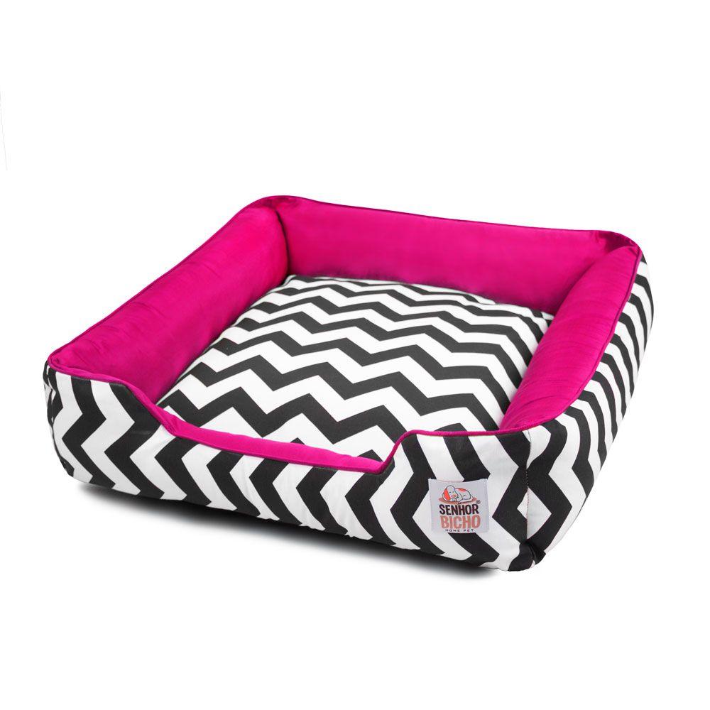 Cama de Cachorro com Zíper Pandora - M - Chevron Pink