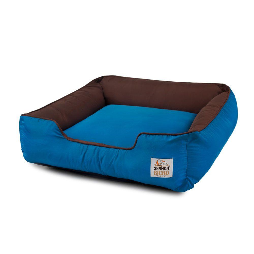 Cama de Cachorro com Zíper Pandora - P - Marrom Azul