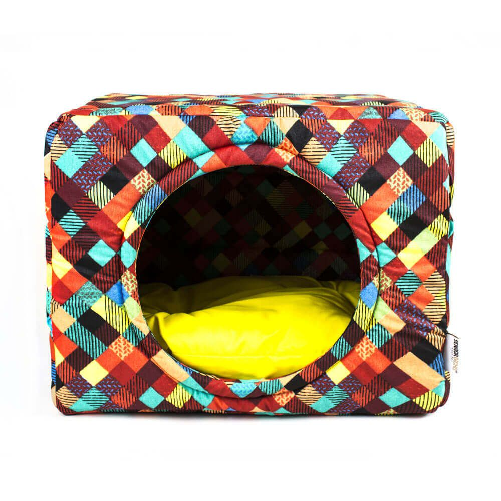 Cama Toca Pet Cachorro Gato Premium 2 em 1 - G - Colors Amarelo
