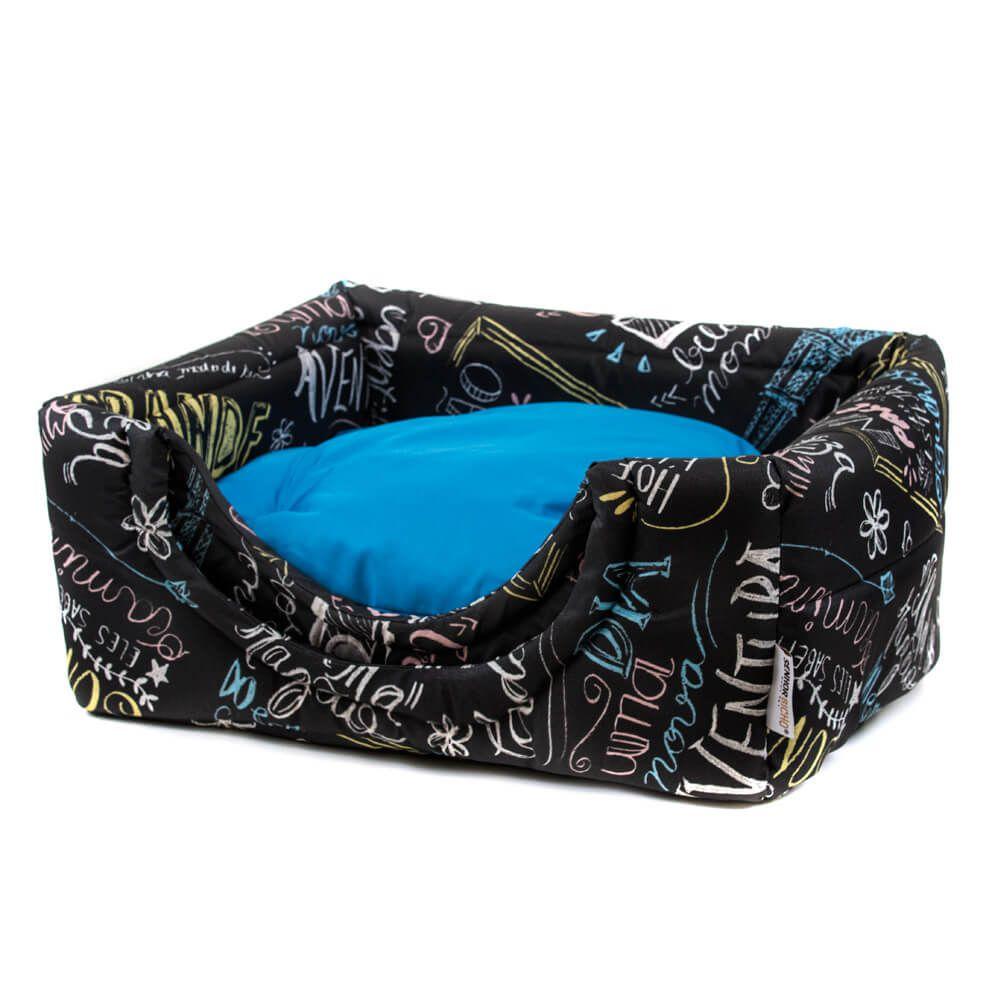 Cama de Gato Toca Iglu Premium - G - Lousa Azul