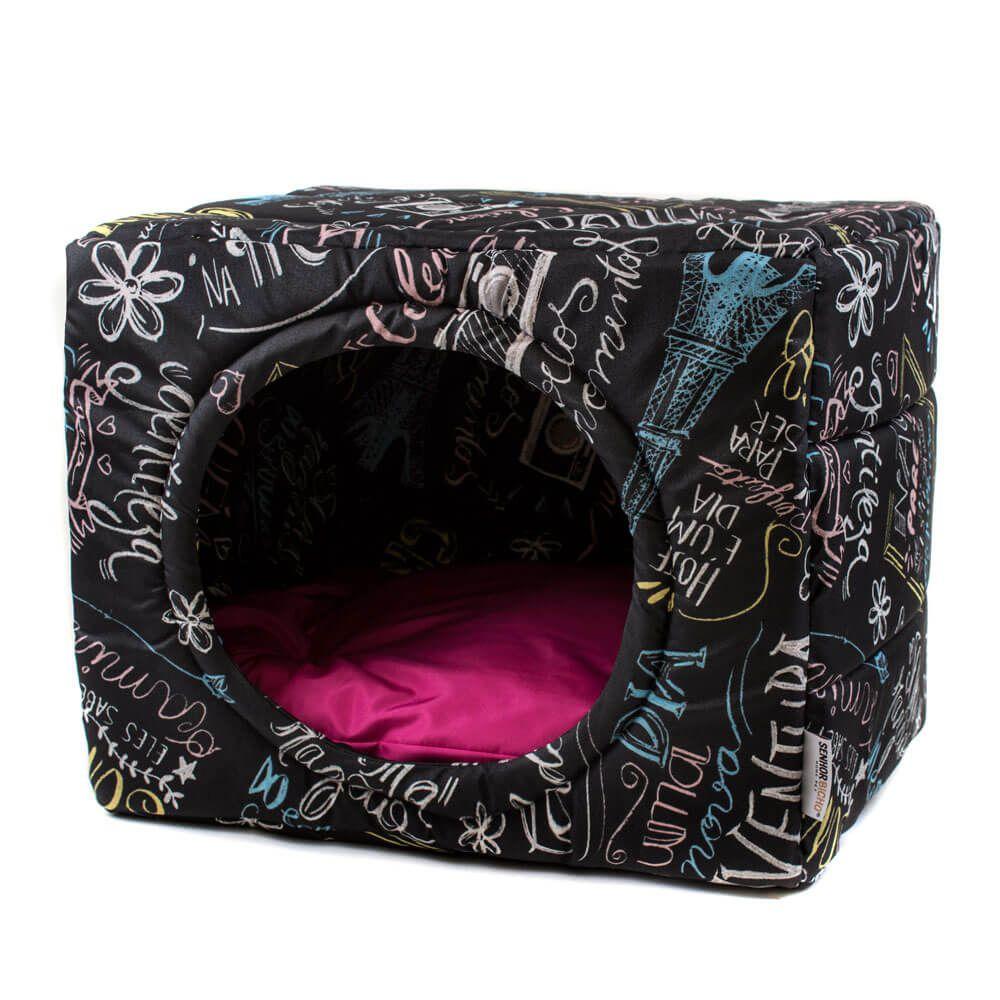 Cama de Gato Toca Iglu Premium - G - Lousa Pink