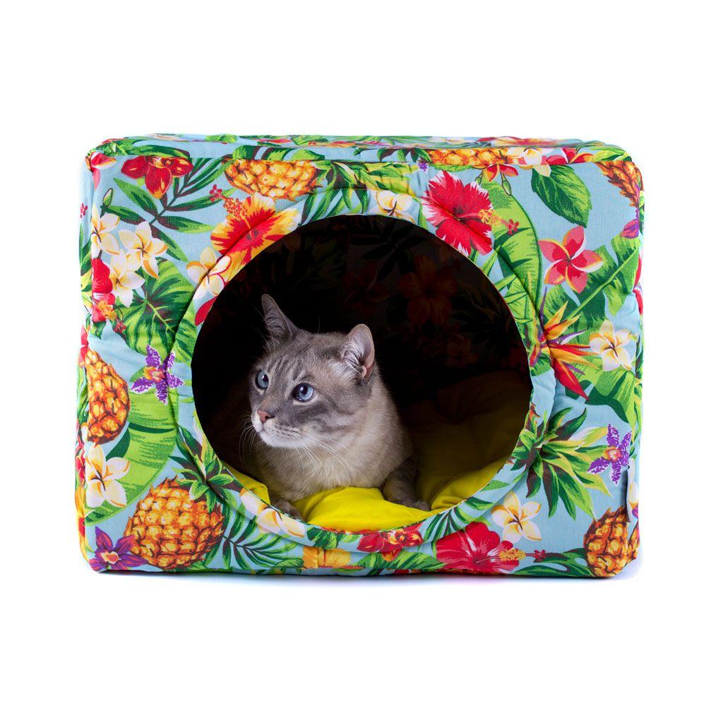 Cama Toca Pet Cachorro Gato Premium 2 em 1 - G - Tropical