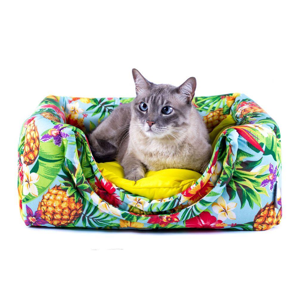 Cama de Gato Toca Iglu Premium - G - Tropical