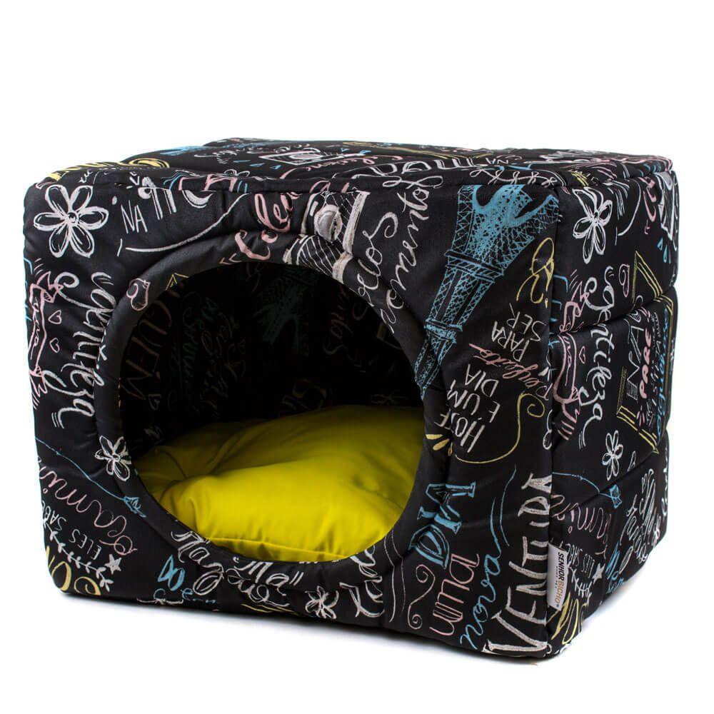 Cama de Gato Toca Iglu Premium Lousa Amarelo