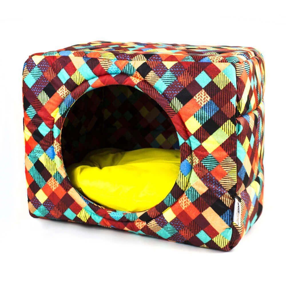 Cama de Gato Toca Iglu Premium - M - Colors Amarelo
