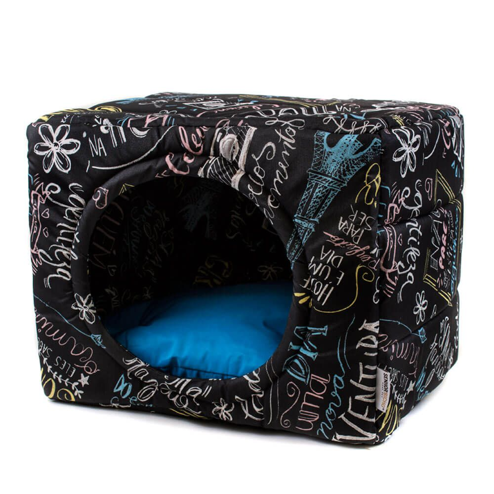 Cama de Gato Toca Iglu Premium - M - Lousa Azul