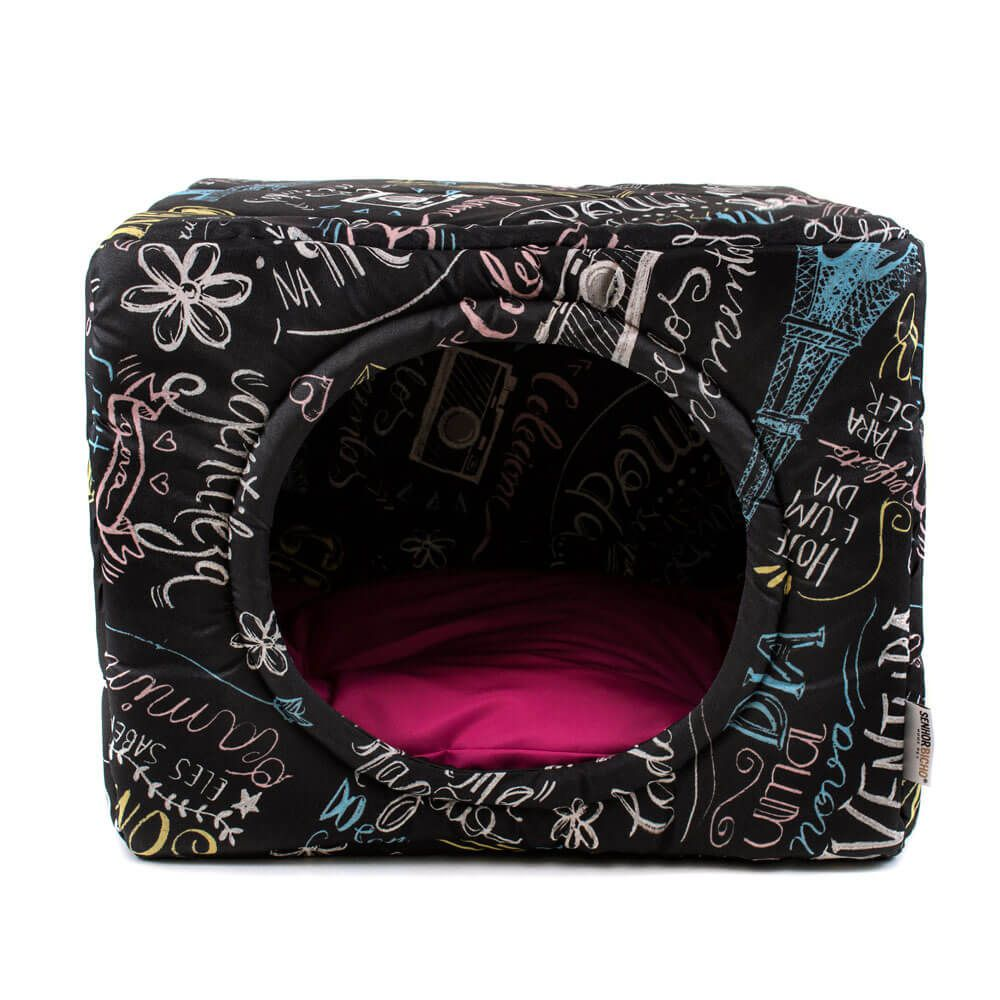 Cama de Gato Toca Iglu Premium - M - Lousa Pink