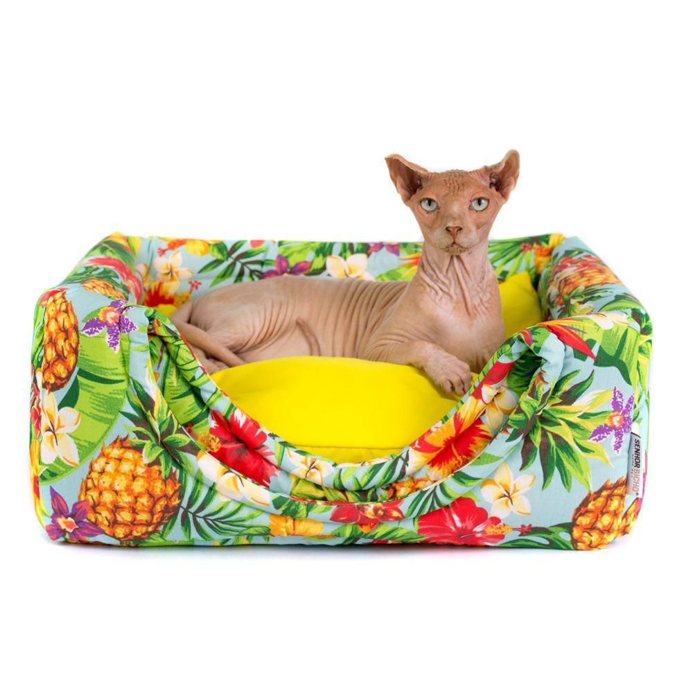 Cama de Gato Toca Iglu Premium - M - Tropical
