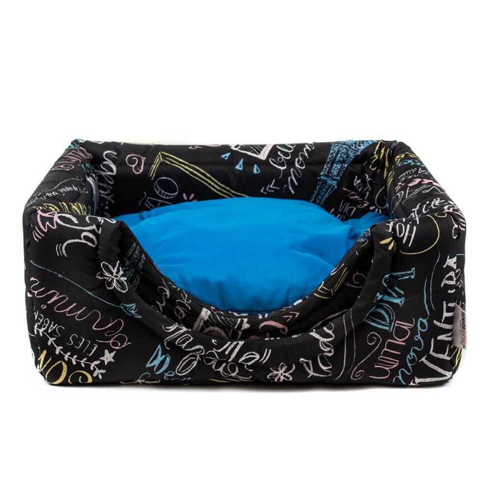 Cama de Gato Toca Iglu Premium - P - Lousa Azul