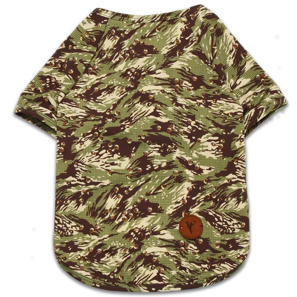Camiseta Roupinha para Cachorro - Camuflada Com Proteção Solar +50