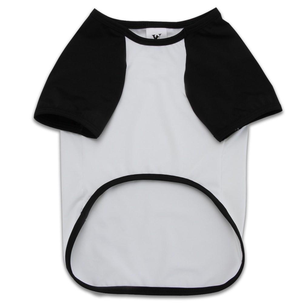 Camiseta Roupinha para Cachorro - Preta e Branca Com Proteção Solar +50