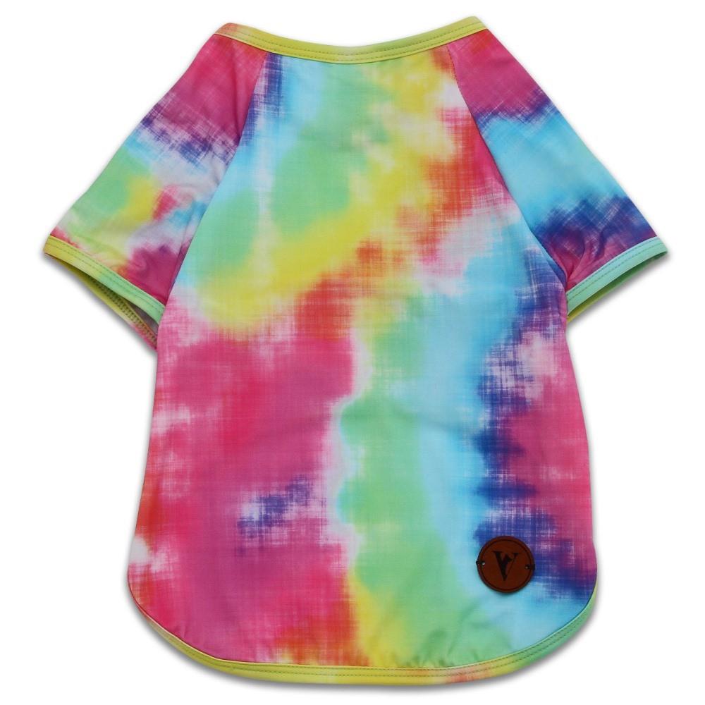Camiseta Roupinha para Cachorro - Tie Dye Com Proteção Solar +50