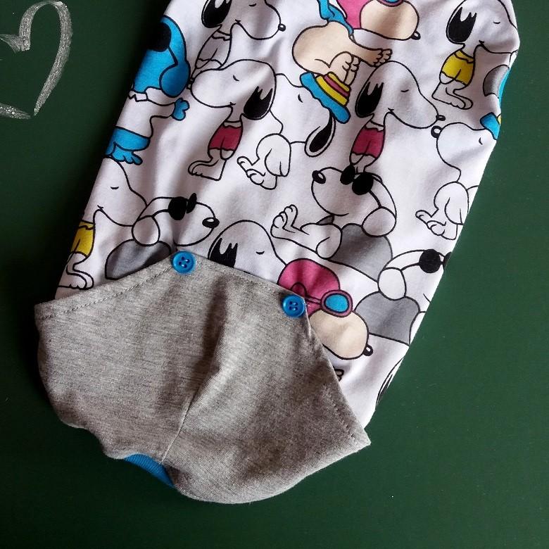 Camiseta Roupinha Pet Snoopy para Cachorro e Gato