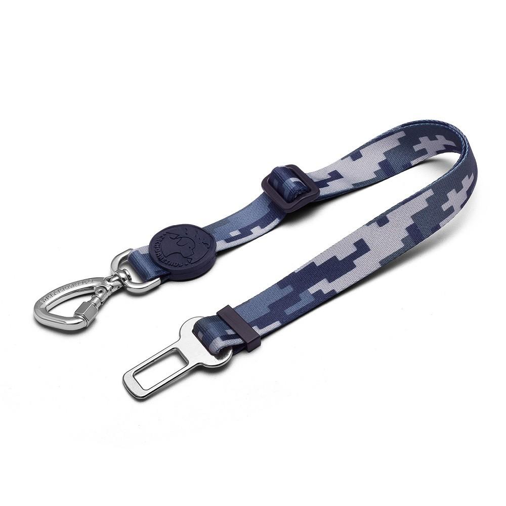 Cinto de Segurança Para Cachorros - Camuflada Cinza by Cleber Santos