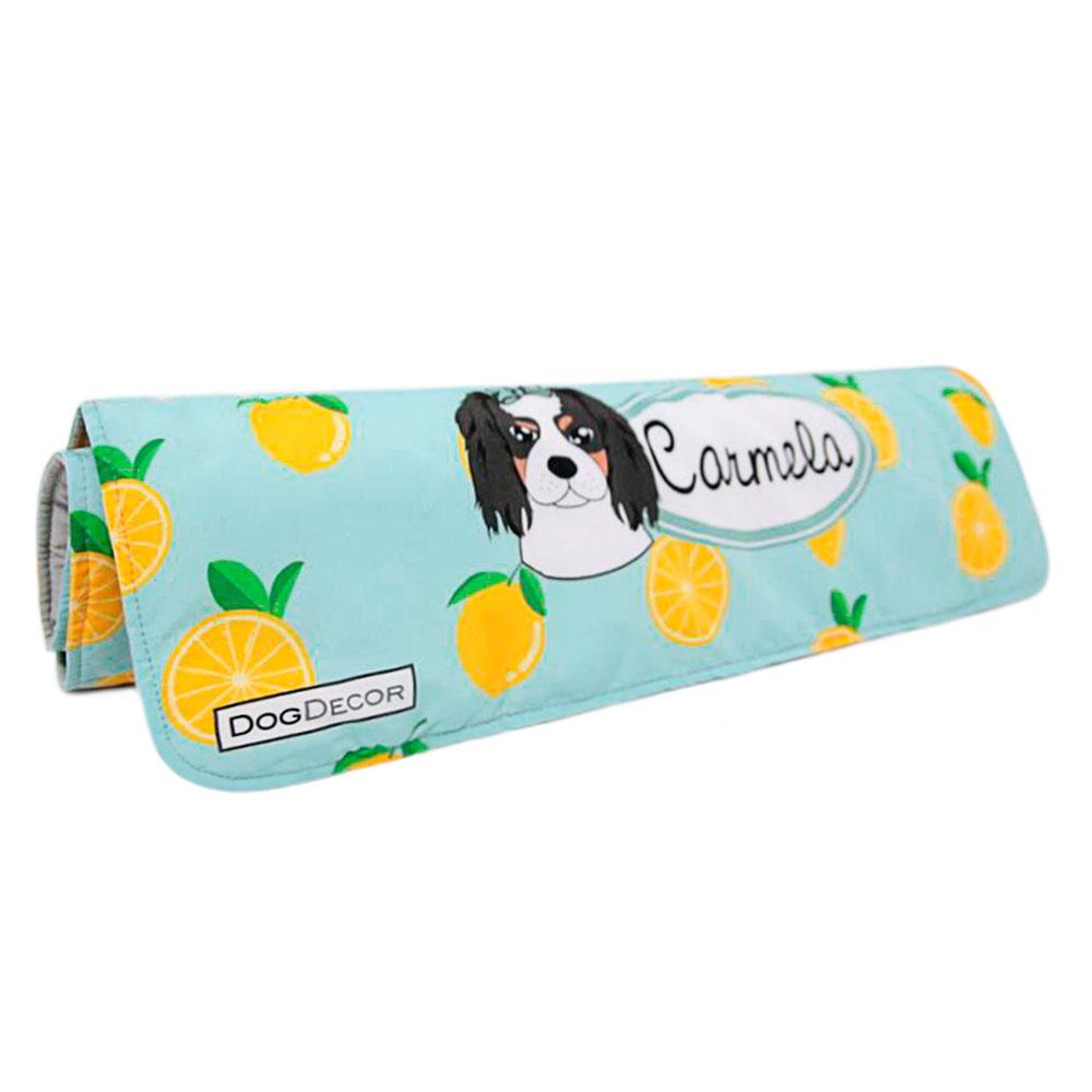 Cobertor Edredom para Cachorro 0,90 x 0,65 - Limão Personalizado