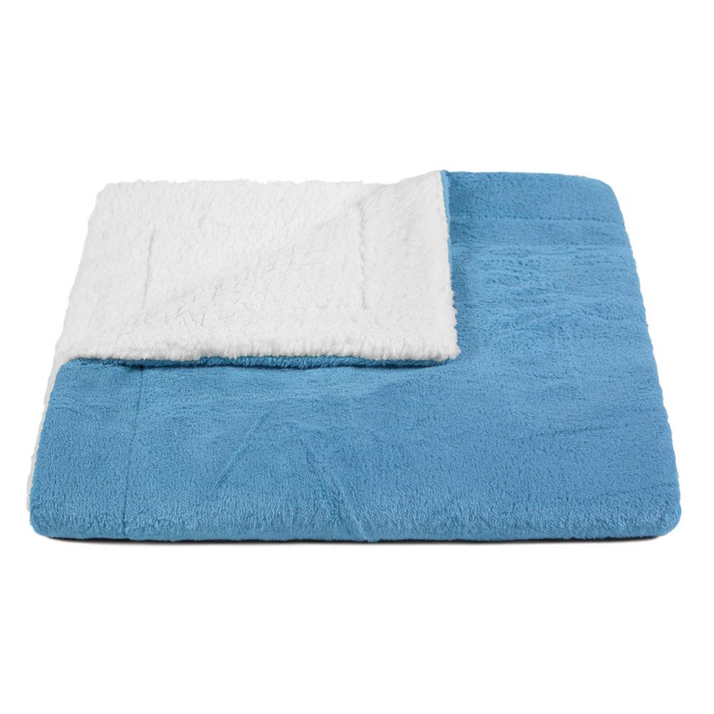 Cobertor para Cachorro Dupla Face Sherpa 0,95 x 0,80 Azul