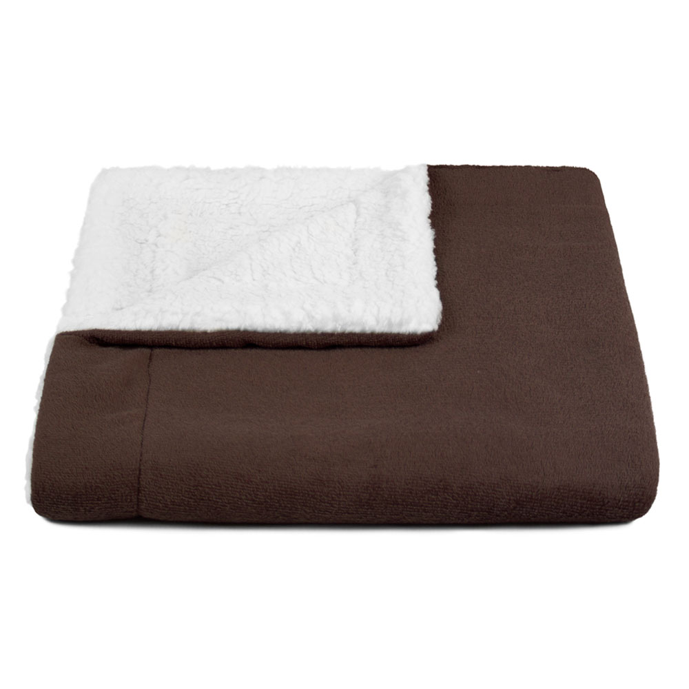 Cobertor para Cachorro Dupla Face Sherpa 0,95 x 0,80 Marrom