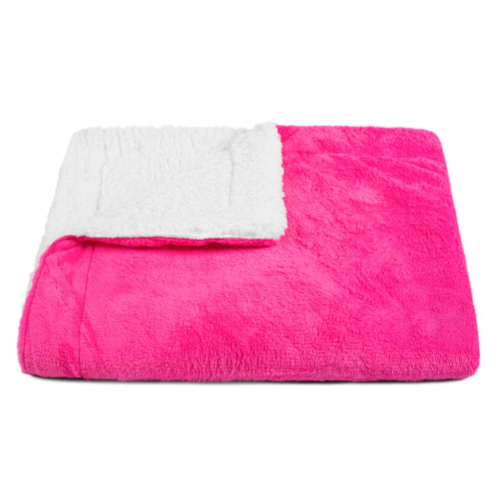 Cobertor para Cachorro Dupla Face Sherpa 0,95 x 0,80 Pink