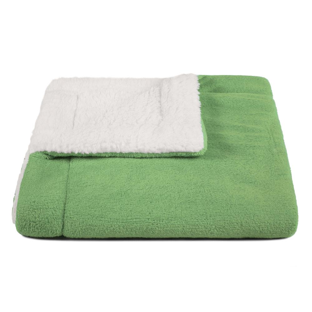 Cobertor para Cachorro Dupla Face Sherpa 0,95 x 0,80 Verde