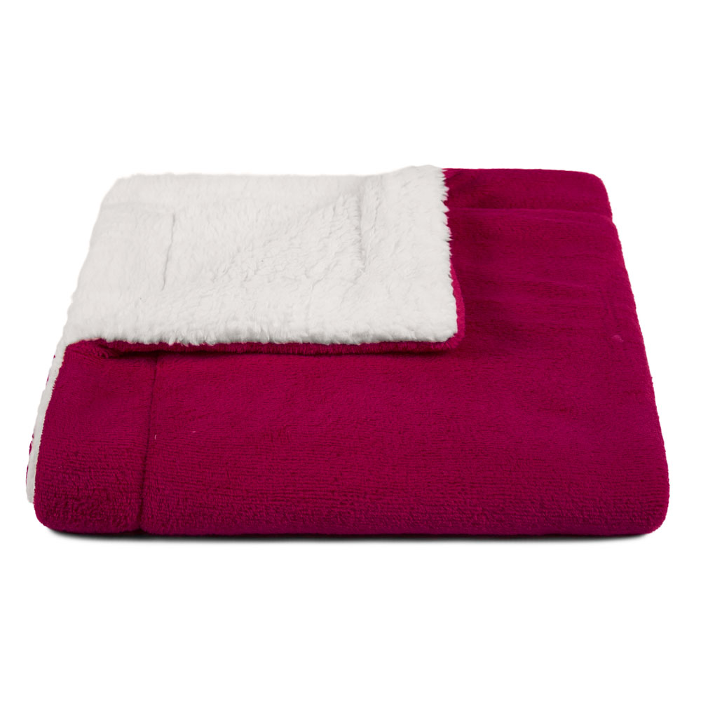 Cobertor para Cachorro Dupla Face Sherpa 0,95 x 0,80 Vinho