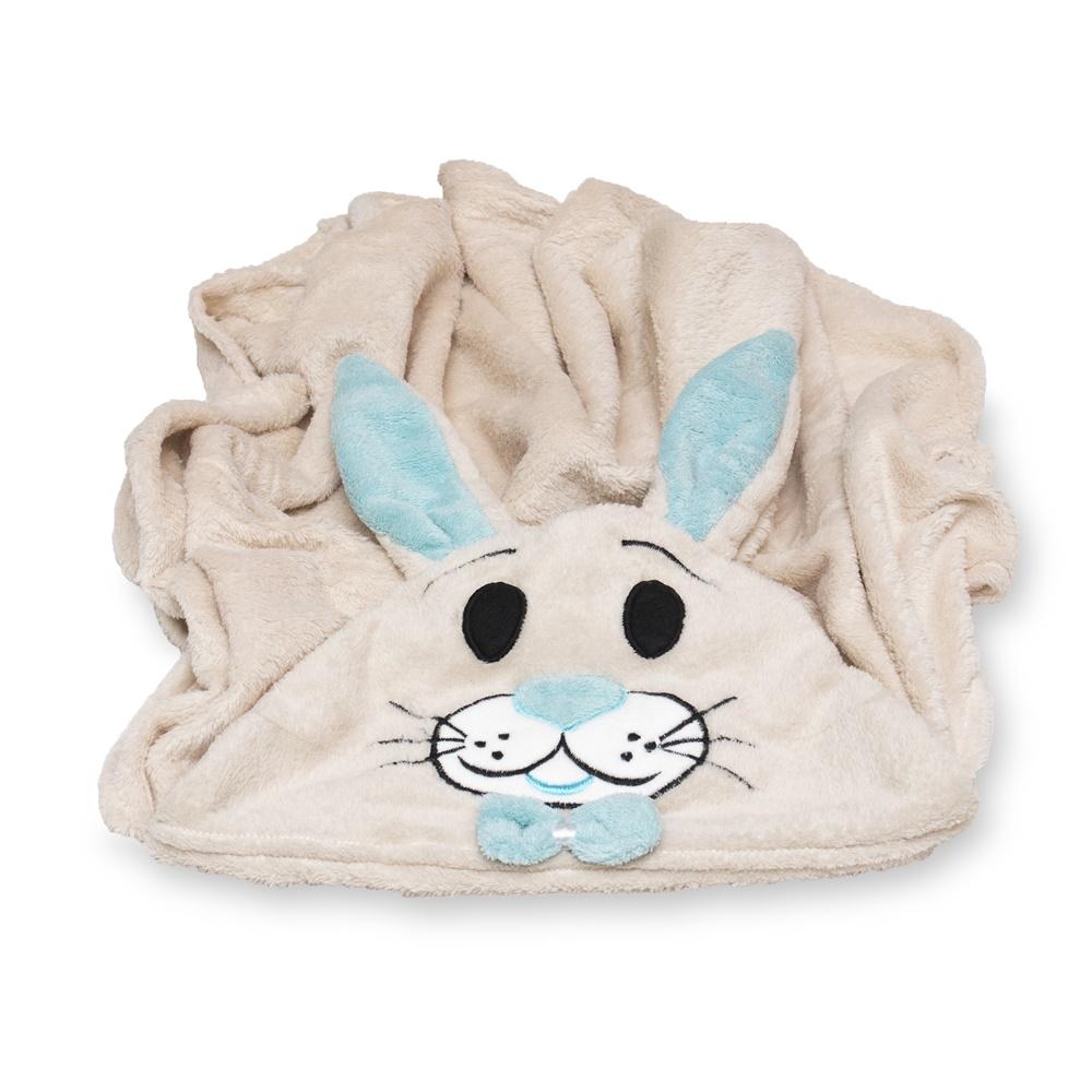 Cobertor para Cachorro Manta Com Capuz Coelho Azul 0,90x0,95