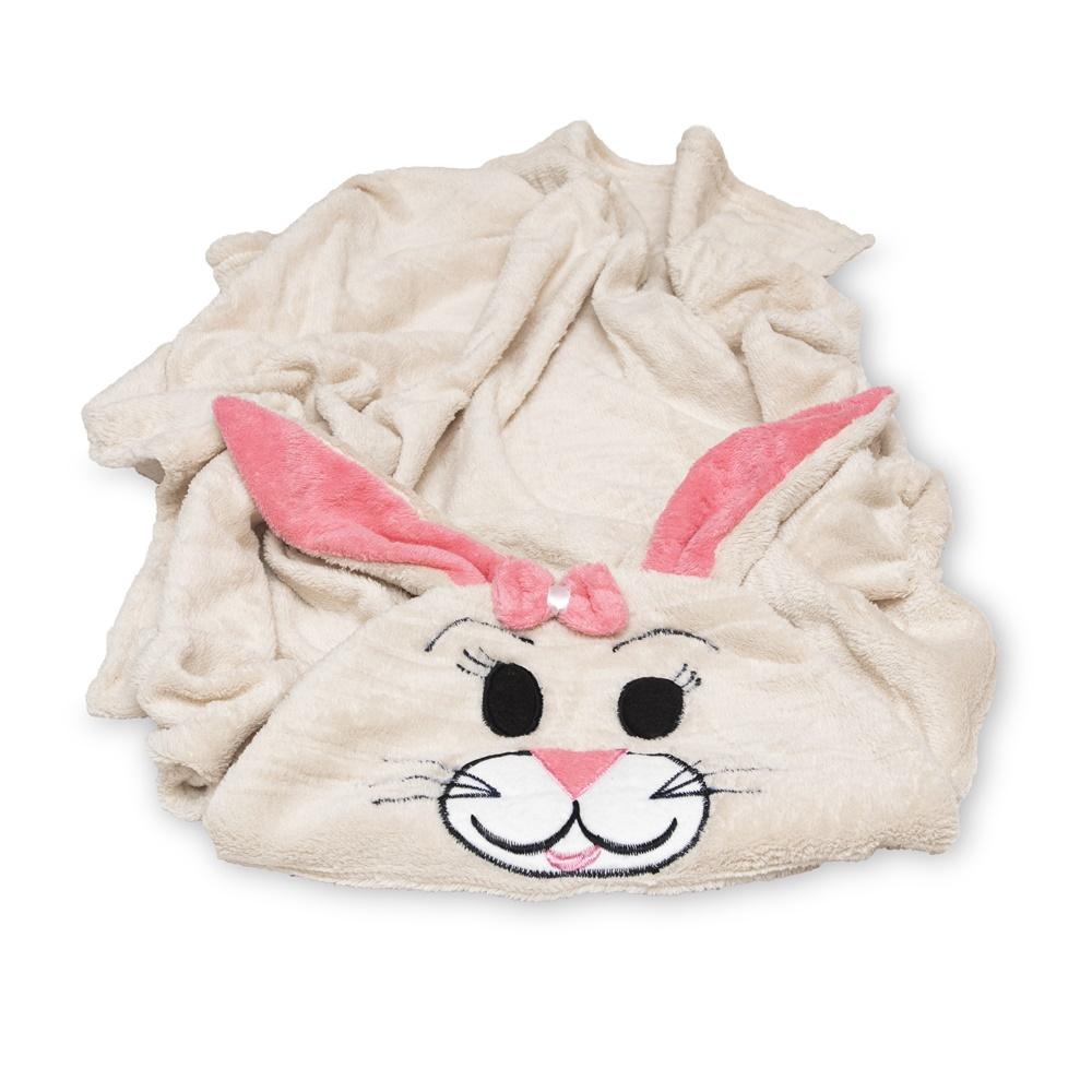 Cobertor para Cachorro Manta Com Capuz Coelho Rosa 0,90x0,95