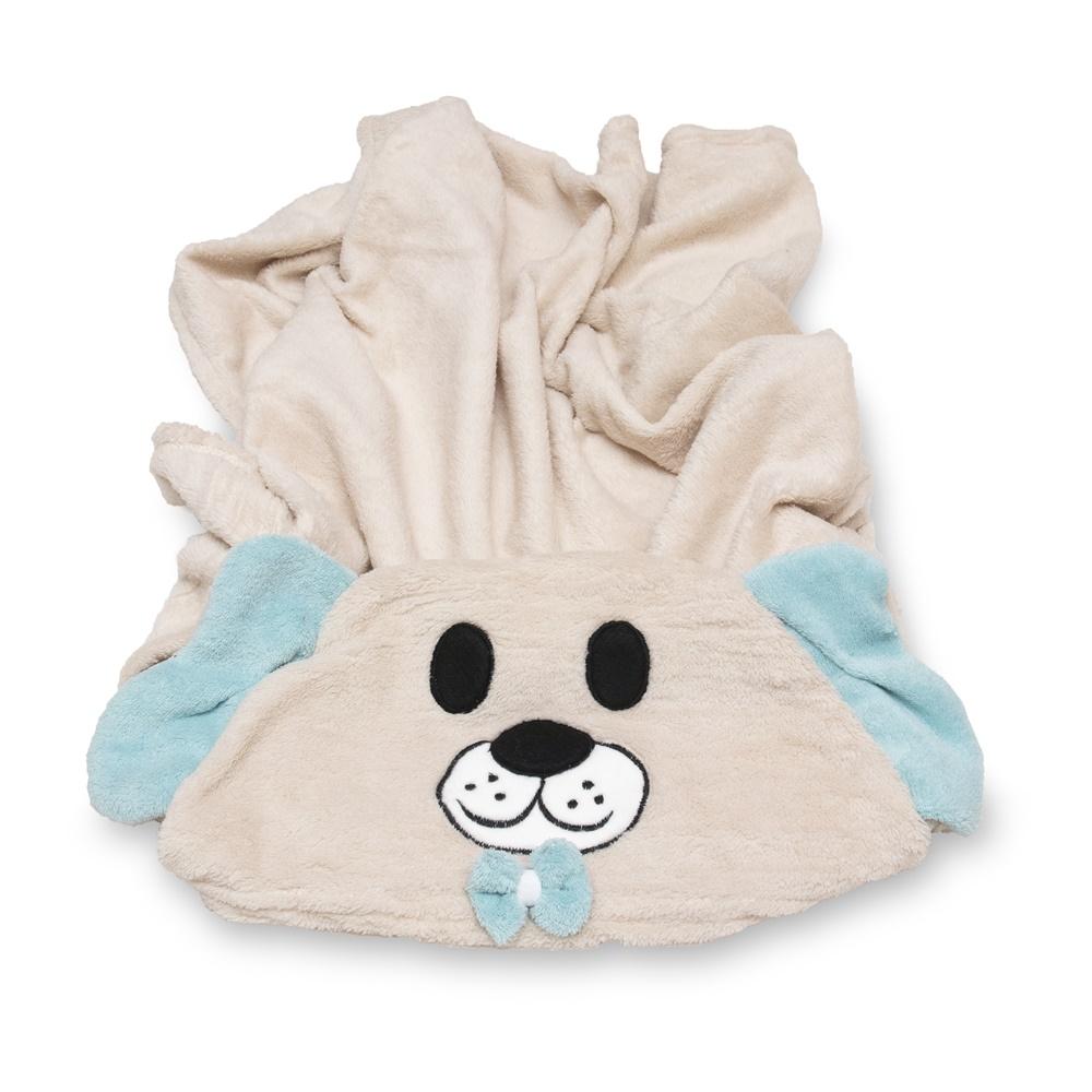 Cobertor para Cachorro Manta Com Capuz Dog Azul 0,90x0,95