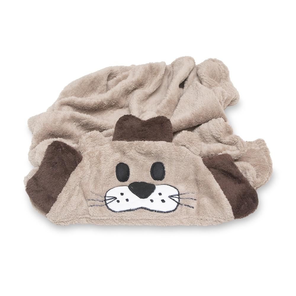 Cobertor para Cachorro Manta Com Capuz Dog Marrom 0,90x0,95