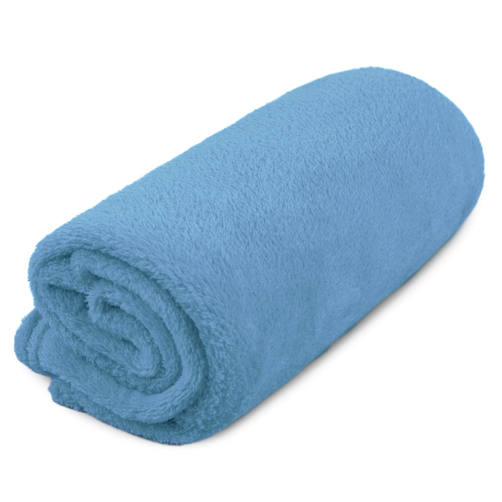 "Cobertor para Cachorro Microfibra Liso ""Meu Pet"" 0,70 x 1,00 - Azul Claro"