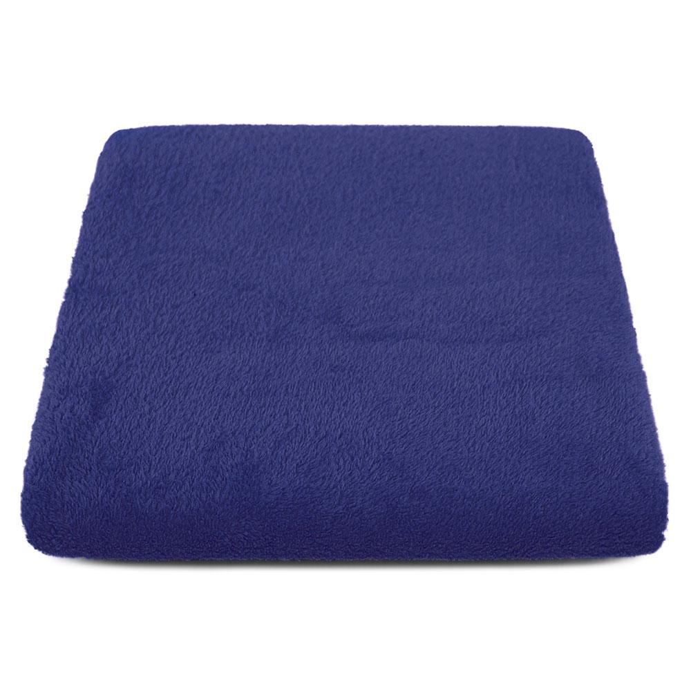 """Cobertor para Cachorro Microfibra Liso """"Meu Pet"""" 0,70 x 1,00 - Azul Marinho"""