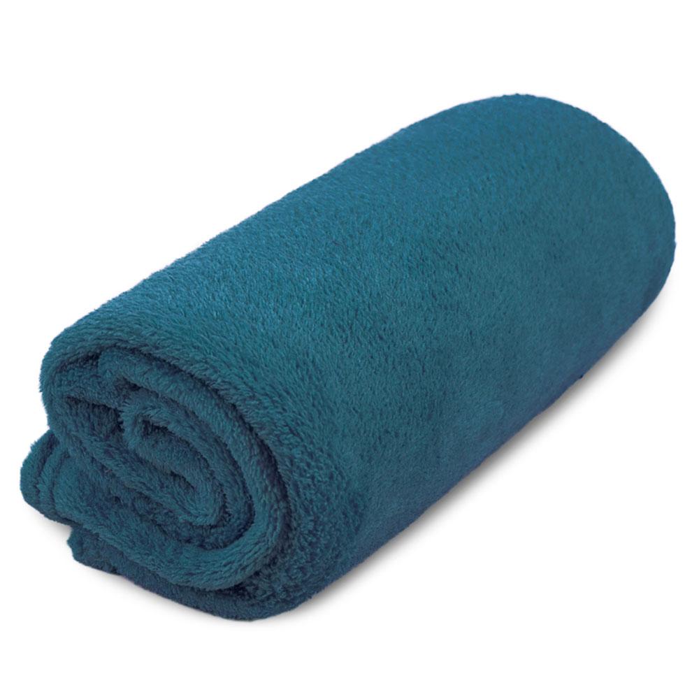 """Cobertor para Cachorro Microfibra Liso """"Meu Pet"""" 0,70 x 1,00 - Azul Petróleo"""