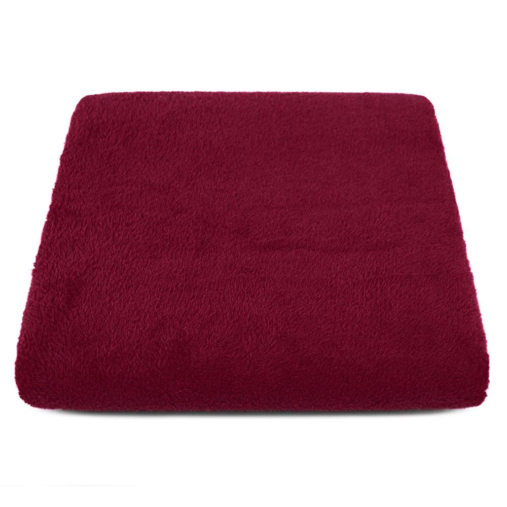 "Cobertor para Cachorro Microfibra Liso ""Meu Pet"" 0,70 x 1,00 - Marsala"