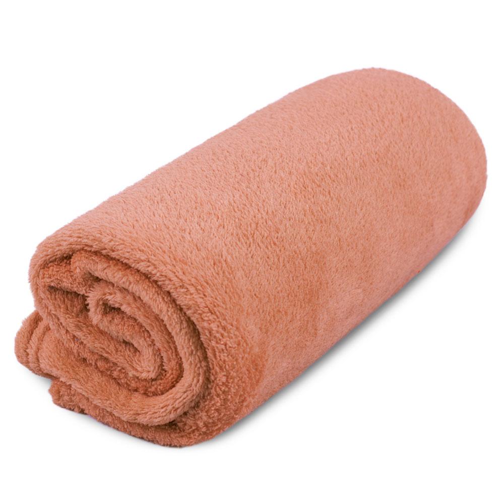 """Cobertor para Cachorro Microfibra Liso """"Meu Pet"""" 0,70 x 1,00 - Salmão"""
