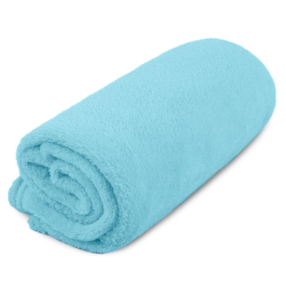 """Cobertor para Cachorro Microfibra Liso """"Meu Pet"""" 0,70 x 1,00 - Verde Água"""