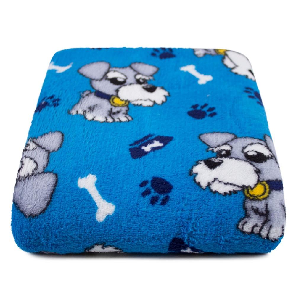 """Cobertor para Cachorro Microfibra """"Meu Pet"""" 0,70x1,00 - Cachorrinho Azul Escuro"""