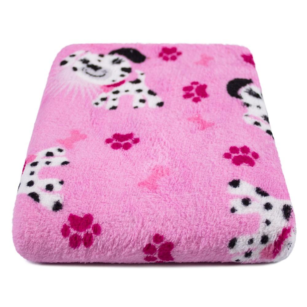 """Cobertor para Cachorro Microfibra """"Meu Pet"""" 0,70x1,00 - Cachorrinho Pink"""