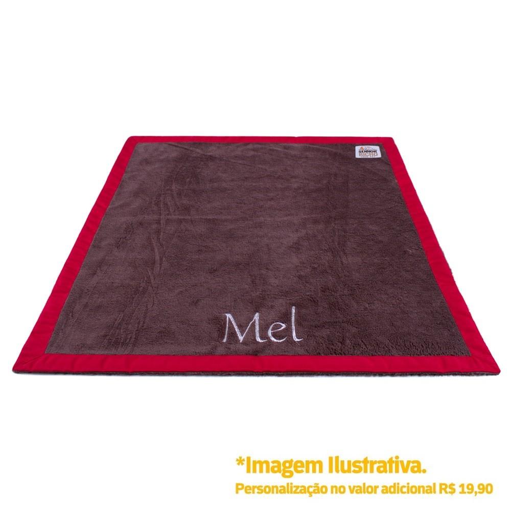 Cobertor para Cachorro Senhor Bicho Personalizável - M -70x60