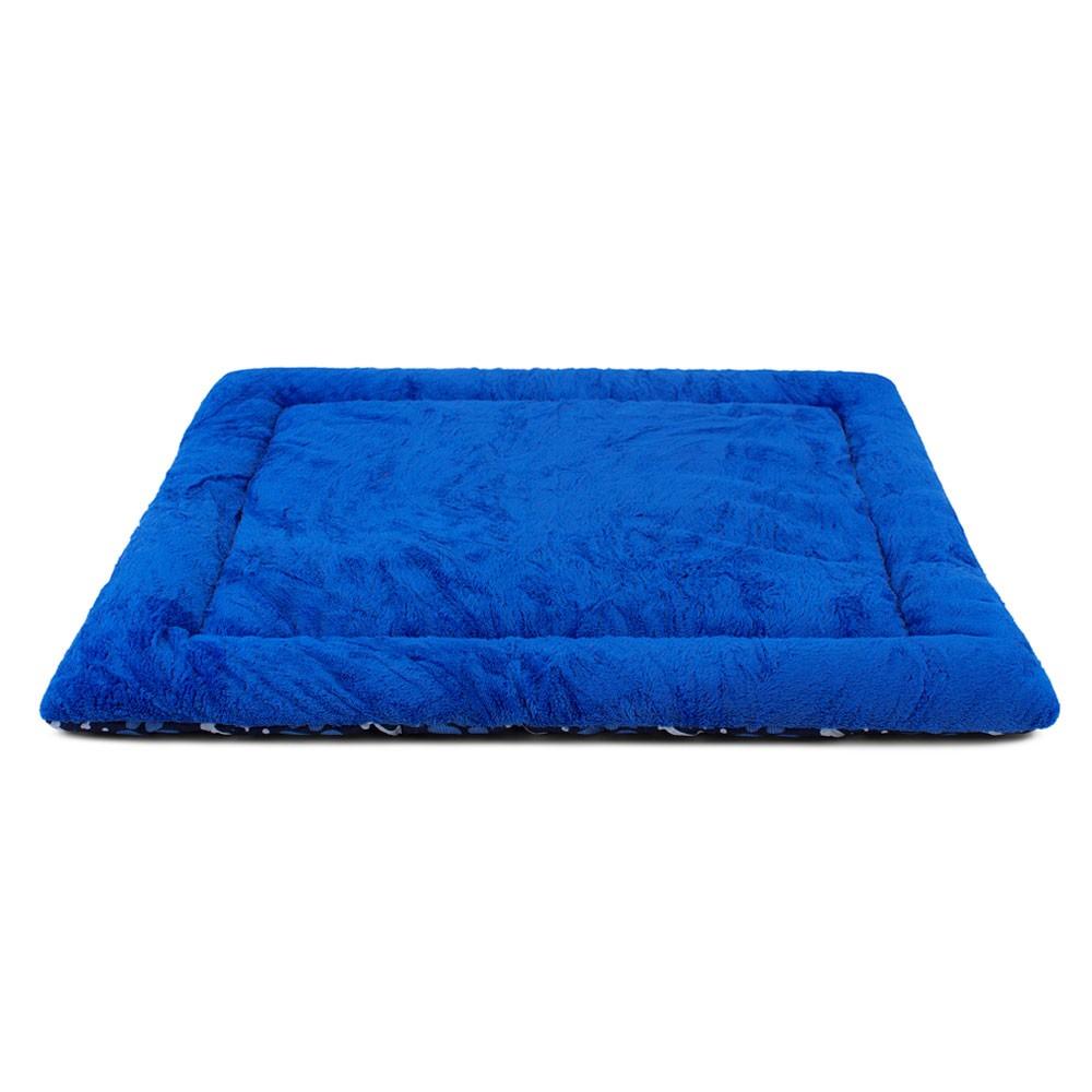 Colchonete para Cachorro Dupla Face 80x60 - Patas Azul Escuro