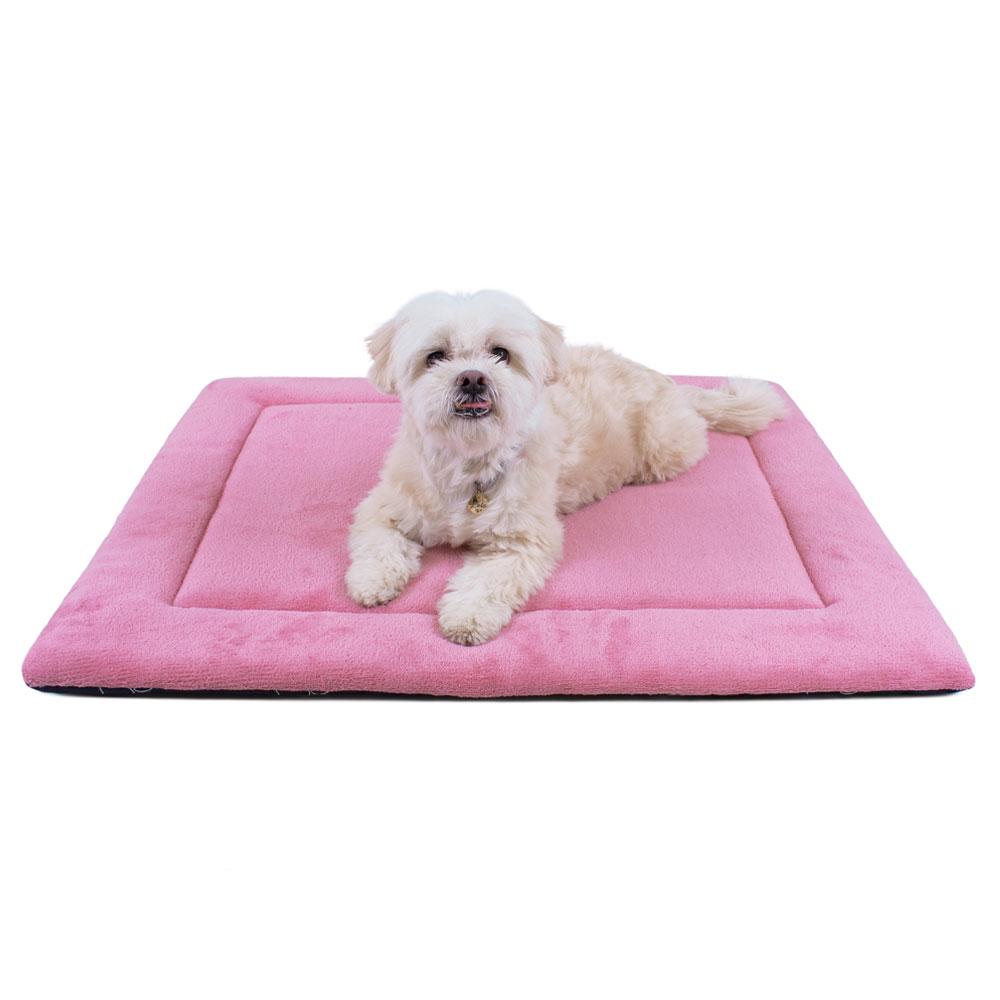 Colchonete para Cachorro Dupla Face 80x60 - Patas Azul Rosa