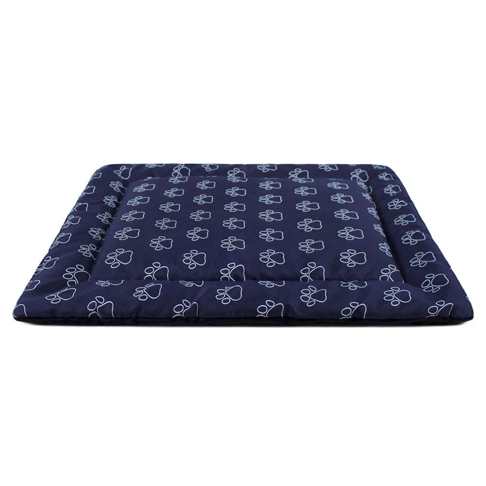 Colchonete para Cachorro Dupla Face 80x60 - Patas Azul Preto