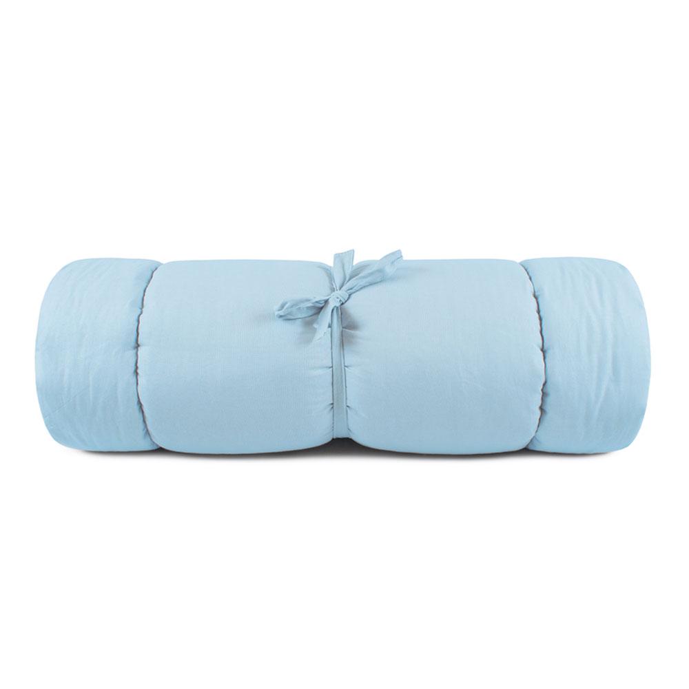 Colchonete para Cachorro Sherpa Portátil Azul 70x1,25