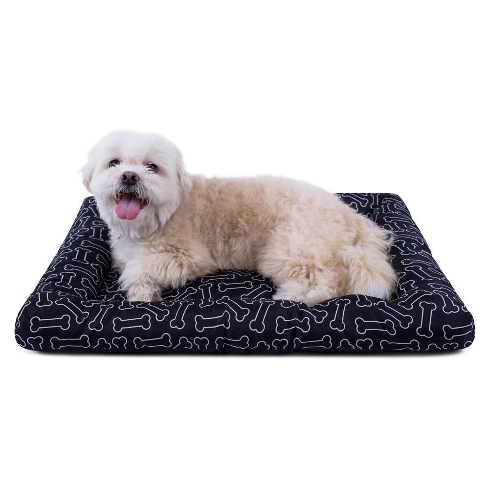 Colchonete para Cachorro Toque de Pêssego Meu Pet 66x54 - Ossinhos Preto