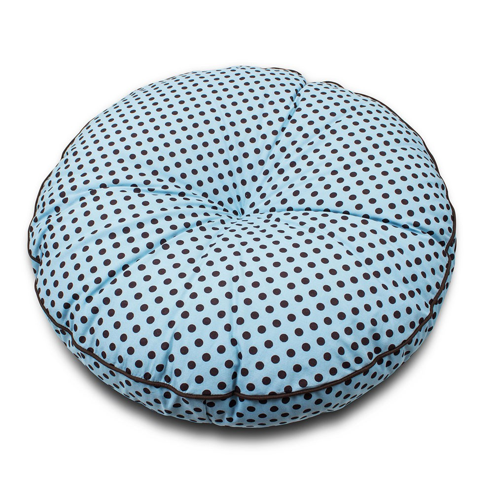 ENVIO IMEDIATO! - Futon Cama de Cachorro Luxo Senhor Bicho - Azul Poá Marrom