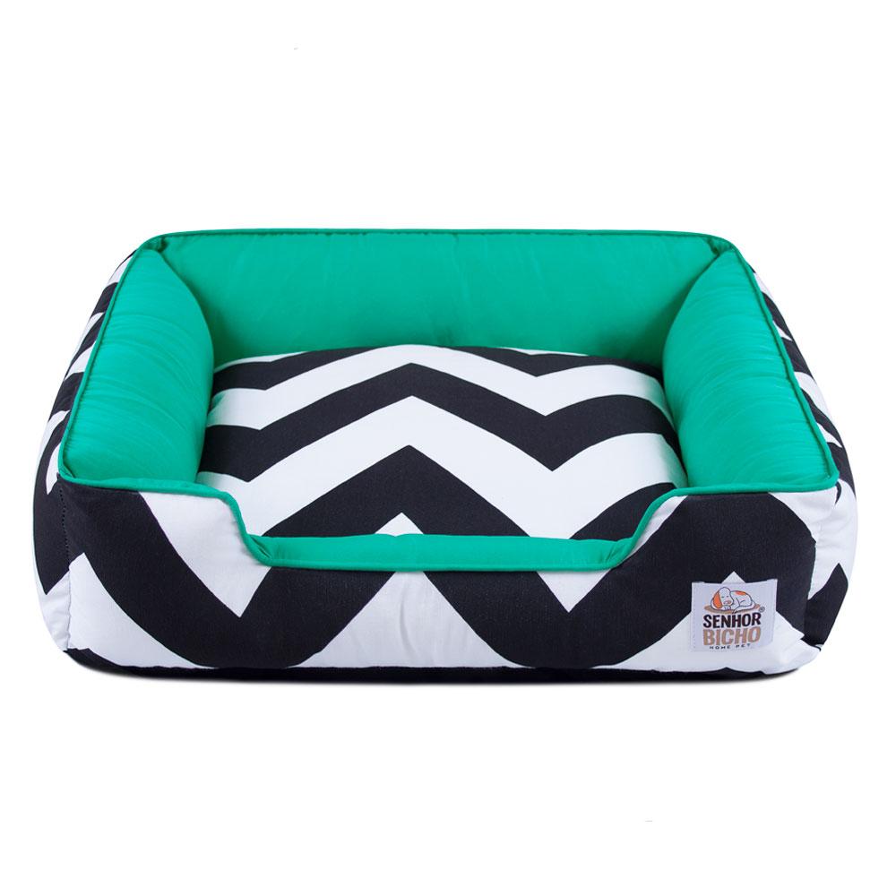 Enxoval Cama de Cachorro com Zíper Pandora - G - ZigZag Verde