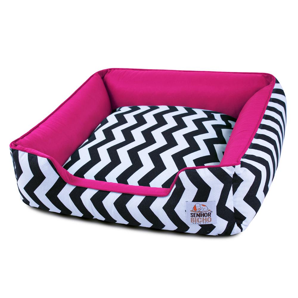 Enxoval Cama de Cachorro com Zíper Pandora - M - Chevron Pink