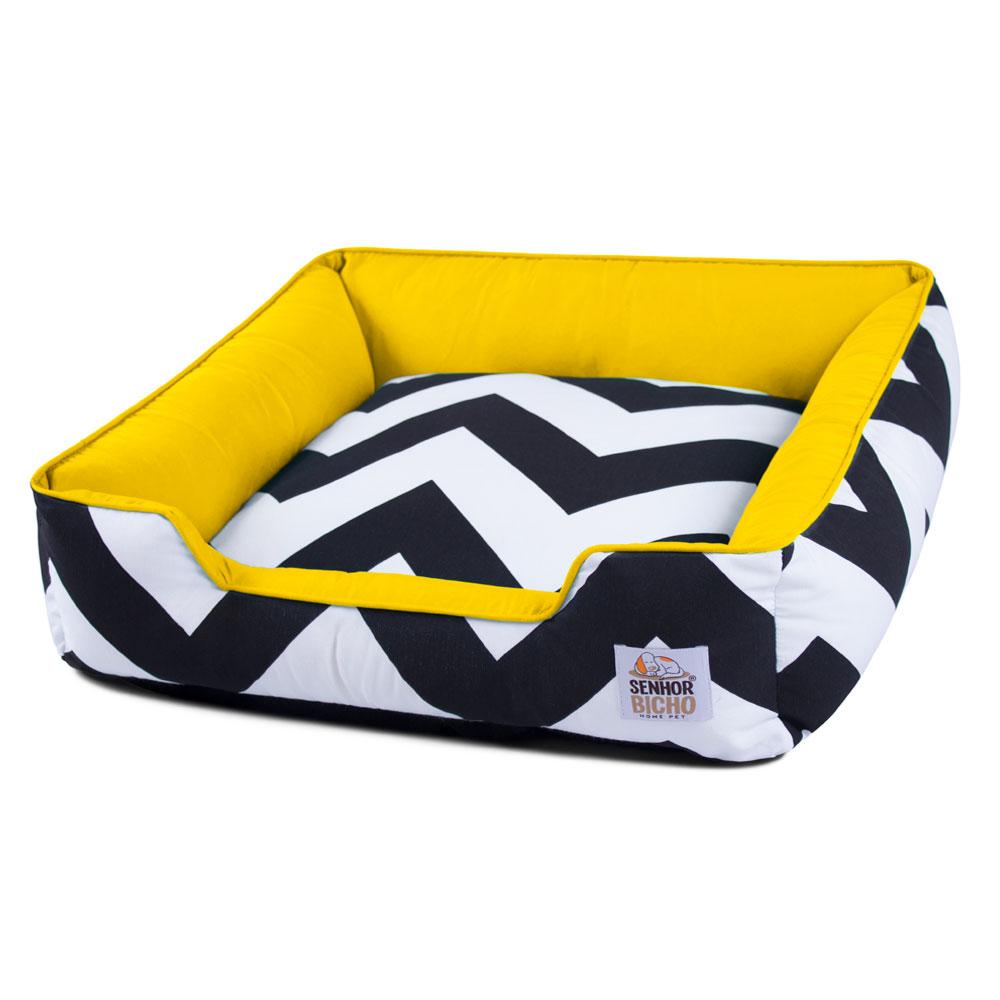 Enxoval Cama de Cachorro com Zíper Pandora - M - ZigZag Amarelo