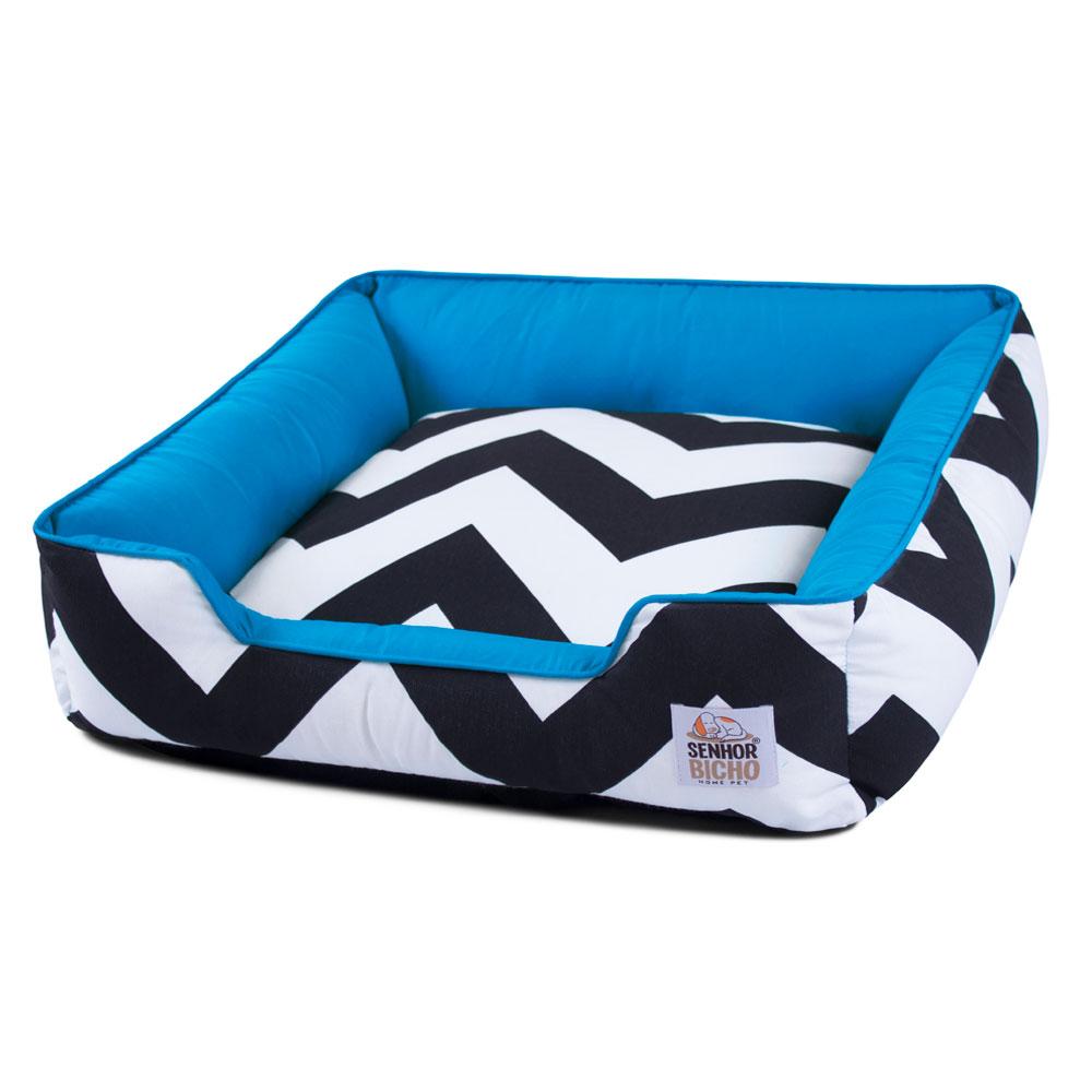 Enxoval Cama de Cachorro com Zíper Pandora - M - ZigZag Azul