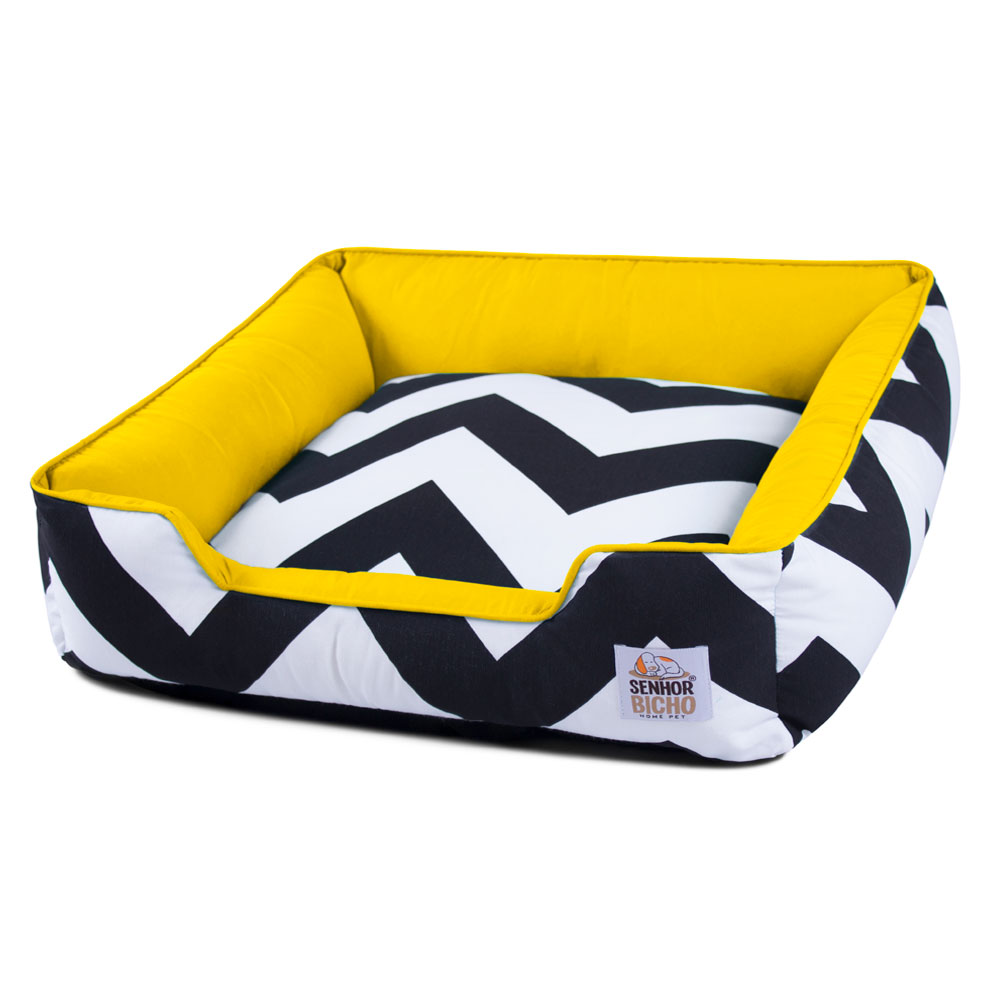 Enxoval Cama de Cachorro com Zíper Pandora ZigZag Amarelo