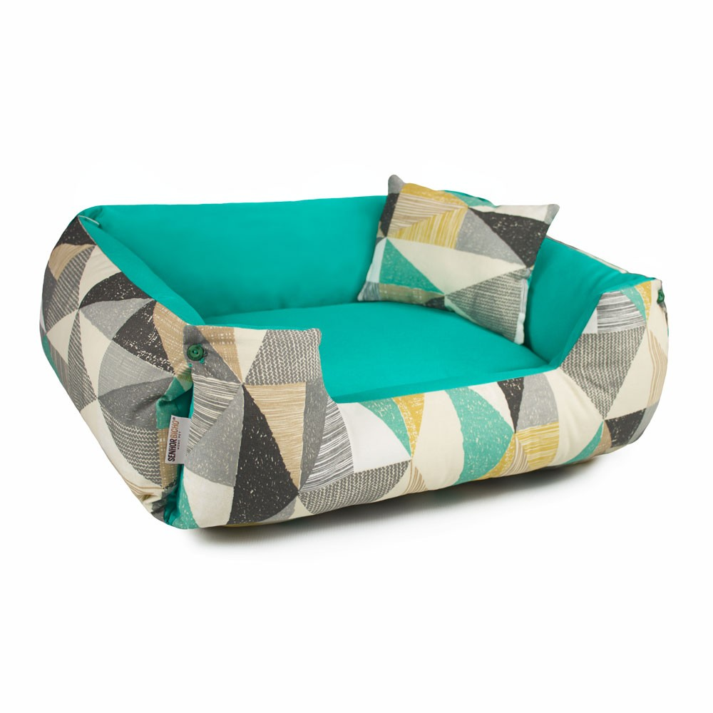 Enxoval Cama de Cachorro Dupla Face Fancy - G - Forest